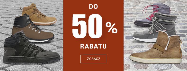 Buty na jesień i zimę do 50% rabatu